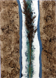 Colin Riches, 'Reed and River', reed, earth, ink and gouache