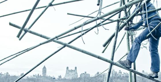 Doug + Mike Starn on the Roof: Big Bambú