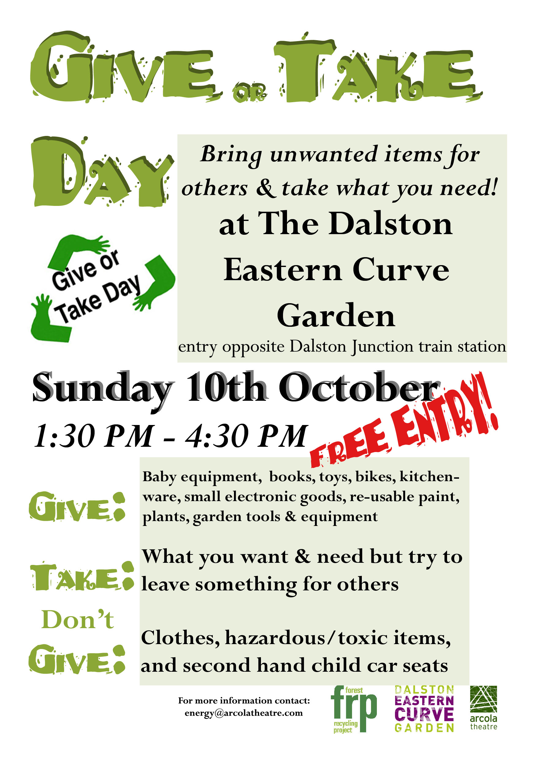 Give or Take Day Flier